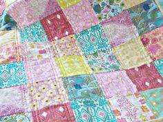 Bohemian Flannel Baby Quilt  Anna Maria Horner by PlatoSquirrel, $52.00
