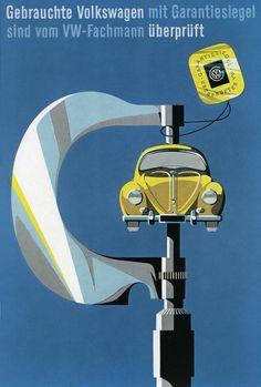 Zimmermann Ende 50er Gebrauchte Volkswagen Plakat | Flickr - Fotosharing!