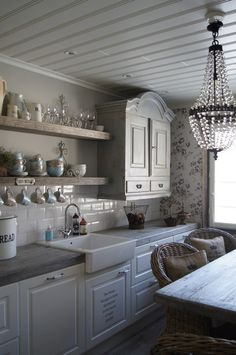 Yes to everything.... Ceiling, sink, whites & counter tops!