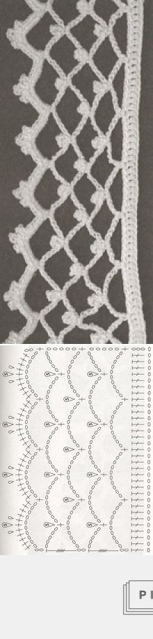 Crochet lace edging: Les Bordures au crochet #44 - Le Monde de Célénaa