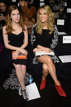 Mercedes-Benz Fashion Week #Day2 #RoundUp #MBFW #FW14 Anna Kendrick and Carrie Underwood at @Christina Childress & Minkoff's fashion show.