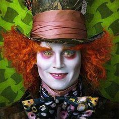 Maquillaje de Halloween para hombre: Johnny Deep en 'Alicia en el país de las maravillas'