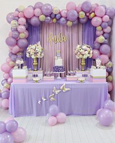 Baby shower balloons arch photo 47 Ideas for 2019 Butterfly Baby Shower, Baby Shower Purple, Baby Girl Shower Themes, Girl Baby Shower Decorations, Purple Party Decorations, Girl Babyshower Themes, Baby Shower For Girls, Wedding Decorations, Girl Themes