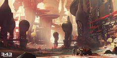 Halo 5: Guardians, Darren Bacon on ArtStation at https://www.artstation.com/artwork/LaLPv