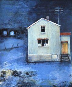 Bilderesultat for vottestad bilder Blues Artists, Scandinavian Art, Wonderwall, Blue Art, House Painting, Norway, Architecture, House Styles, Drawings