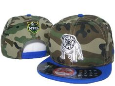 b90c7c81f79 Mens Canterbury Bulldogs 3D Team Logo Embroidery NRL Snapback Hat -  Woodland Camo   Blue