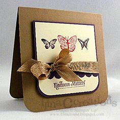 Beautiful card using the Kindness Matters Stampin Up stamp set.  Love the layout.
