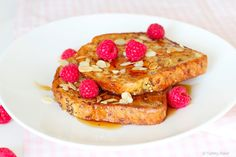 French toast with sticky syrup, yum!