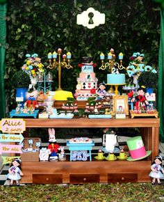 Alice in Wonderland Birthday Party Ideas | Photo 1 of 20 | Dessert Table