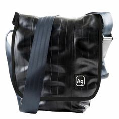 Bags + Accessories Made From Bicycle Inner Tubes When you only need half a messenger bag, the Haversack is just right. It is a small satchel-style bag with a full front flap for extra security. An adj