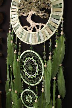 Green Dream Catcher Tree of life jade Dreamcatcher prehnite Dream сatcher mosaic dreamcatchers wall decor handmade unique gift Valentine Day http://etsy.me/2CxPJDv #uniquedreamcatcher #dreamcatcher #dreamcatchers #greendreamcatcher #largedreamcatcher #treeoflife