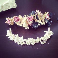 Mini tiaras Hierbalimón #novias #bodas