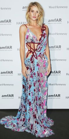 Rosie Huntington-Whiteley's Red Carpet Style - In Atelier Versace, 2015 from InStyle.com