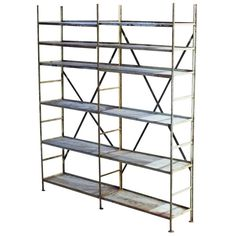 1stdibs.com | Industrial Primitive Iron Shelving Unit