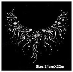 Online Shop Free ship!12pc!Snowflake necklace design hotfix rhinestones heat transfer design iron on motifs spatches, DIY motifs rhinestones|Aliexpress Mobile