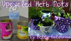 Upcycled Herb Pots tutorial by my gorgeous sister Betty!