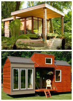 petite maison moderne et rustique