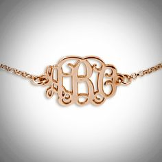 This is a Beautiful .925 Silver Monogram Bracelet this is a very sweet and feminine piece. Up to three letters per pendant. Please contact me with your special monogram initials A monogram is typically structured with the last name as the large initial in the center, the left initial i...