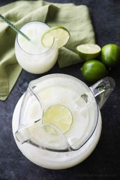 Brazilian Lemonade is actually a creamy limeade that is perfectly sweet and slightly tangy. The secret ingredient that makes it creamy will have you pouring glass after glass of this refreshing drink. Perfect for hot summer days, parties, and potlucks!