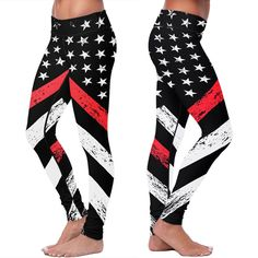 Thin Red Line Flag Leggings