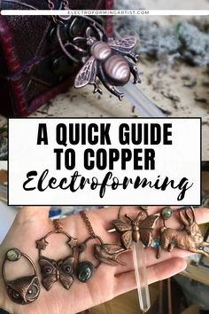 A Quick Guide To Copper Electroforming - electroforming artist Copper Jewelry, Wire Jewelry, Jewelry Crafts, Beaded Jewelry, Jewlery, Homemade Wedding Gifts, Homemade Anniversary Gifts, Anniversary Ideas, Wedding Anniversary