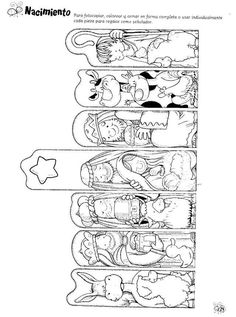 Paper Nativity can also be used as bookmarks Preschool Christmas, Christmas Nativity, Noel Christmas, Christmas Activities, Christmas Crafts For Kids, Xmas Crafts, Christmas Printables, Christmas Colors, Christmas Projects