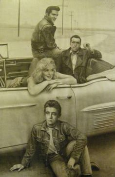 Elvis, Humphry Bogart, Marilyn Monroe and James Dean  - pinimg.com