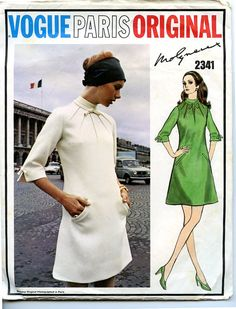 1960s Dress Vogue Pattern 2341 by Molyneux by VioletCrownEmporium, $38.00