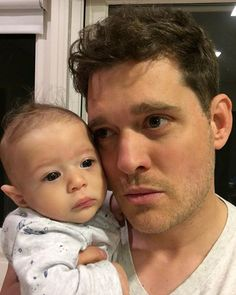 Pin for Later: The Cutest Snaps of the Cutest Celebrity Dads in Hollywood Michael Bublé and Elias