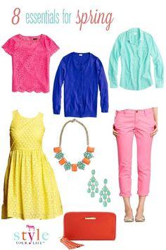 8 essentials for #spring #fashion#whattowear