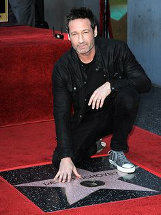 Duchovony Allstar 44525804 70759617 His Touch David Duchovony , celebrated actor musician. Hollywood Walk Of Fame, Hollywood Stars, David And Gillian, Chris Carter, Best Sci Fi, David Duchovny, Star Track, Nerd Love, Gillian Anderson