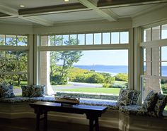 Gorgeous view. Love a bay window, but a window seat makes it even better.