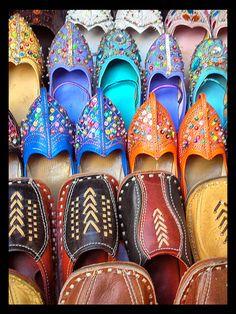 Traditional Rajasthani shoes Copyright: Bharadwaj Vadodaria