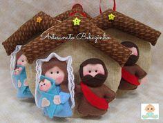 Artesanato Bebezinho: A Sagrada Família em Feltro