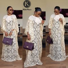 """Mo' kaftan for """"The Ileya Collection"""" Do this Ileya season differently BeKikswoman Wearkiksplace Stand different Outfit… Long African Dresses, African Lace Styles, Latest African Fashion Dresses, African Print Dresses, Kaftan Style, Ankara Dress Styles, African Traditional Dresses, Look Fashion, Fat Fashion"""
