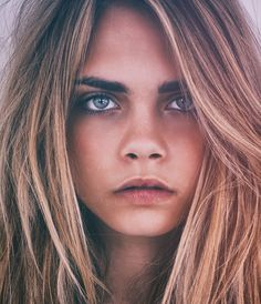 Cara Delevigne FOR Eamonn McCabe.  Love this natural boho look.