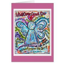 What Cancer Cannot Do Poem Colorful Cancer Angel Card
