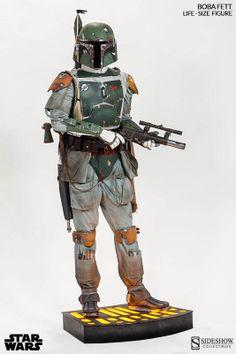 Estatua Boba Fett 2 m. Con luz. Escala 1:1. Tamaño real. Star Wars. Sideshow Collectibles Impresionante estatua del cazarrecompensas Boba Fett a tamaño natural (escala 1:1) de 2 m, uno de los protagonistas de la exitosa Star Wars.