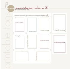 Present day journal card -- free printables #ProjectLife #Scrapbooking