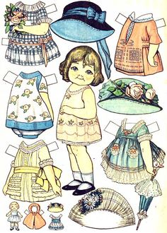 Campbell's Paper Dolls (?)* For lots of free Christmas paper dolls International Paper Doll Society #ArielleGabriel artist #ArtrA thanks to Pinterest paper doll & holiday collectors for sharing *