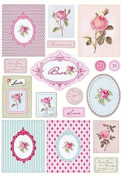 gorgeous rose printables