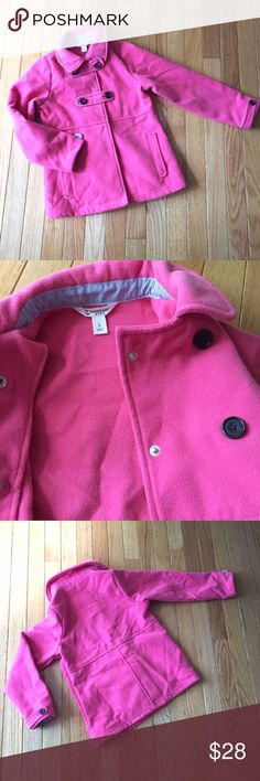 Lands End girls fleece coat 6x Gorgeous color, 2 button fleece jacket, barely worn. Perfect for fall! L Lands' End Jackets & Coats