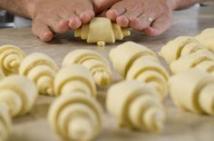 Croissant francese e cornetto classico di Leonardo Di Carlo Croissants, Biscotti, Sweet Recipes, Artisan, Bread, Cheese, Cookies, Food, Muffin