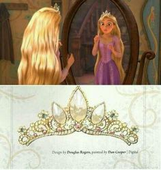 ELAENA ASTONISHED TO SEE HERSELF SO MUCH LIKE A QUEEN WHEN TRYING ON HER CROWN