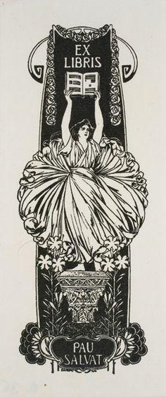Ex libris Pau Salvat. Josep Triadó. 1902