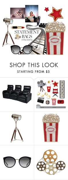 """""""In the Cinema"""" by fortunafornow ❤ liked on Polyvore featuring Pottery Barn, Prada, Charlotte Olympia, Dolce&Gabbana and Benzara"""