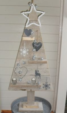 Steigerhouten kerstboom zelf gemaakt! Door ikproefsfeer