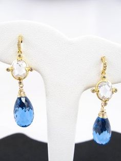 """Jolie Gem Design Studio Earrings Title: """"Forever in Blue Jeans"""" - Love these!! See more at www.joliegem.com"""