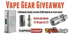 Enter to Win over $260 worth of vape gear at http://VapingCheap.com