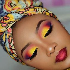 New and Very Bright Make-up for African American Women from 40+